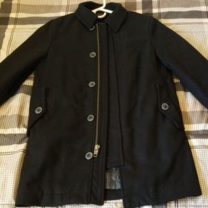 New GAP Pea Coat Men's XS Black